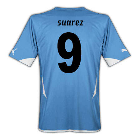 2010-11 Uruguay World Cup Home (Suarez 9)